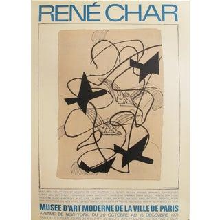1971 Original Exhibition Poster, Rene Char - Musee d'Art Moderne De La Ville De Paris