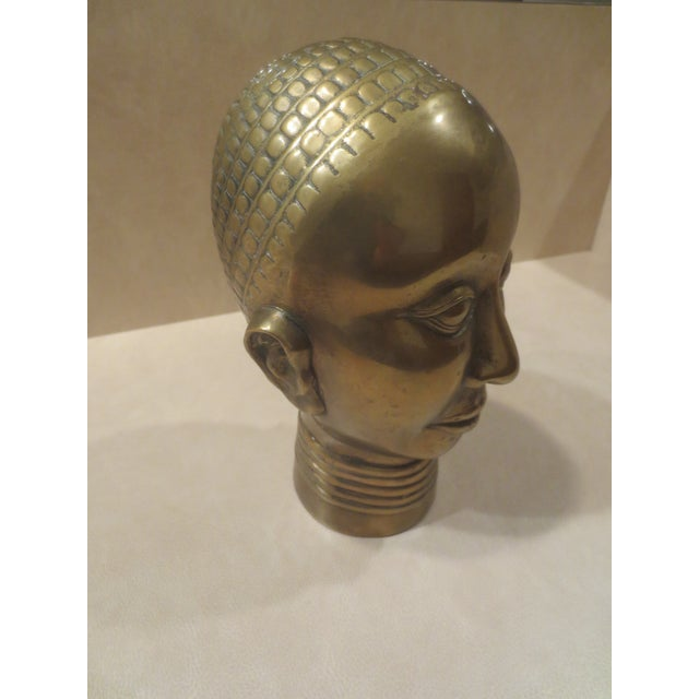 1980 Dolbi Cashier Brass Female Head - Image 5 of 7