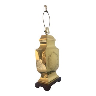 Chinese Etched Brass Lamp