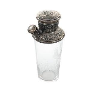 Art Nouveau Sterling Repousse Martini Shaker