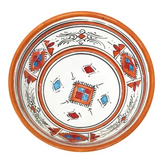Moroccan Handpainted Small Orange Bowl