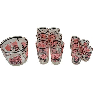 Dancing Pink Elephants Punch Set