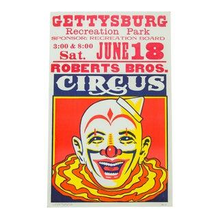 Vintage Roberts Bros Circus Poster