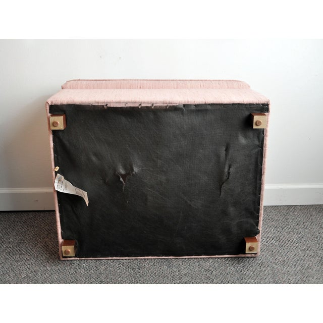 Blush Pink Upholstered Ottoman - Image 8 of 9