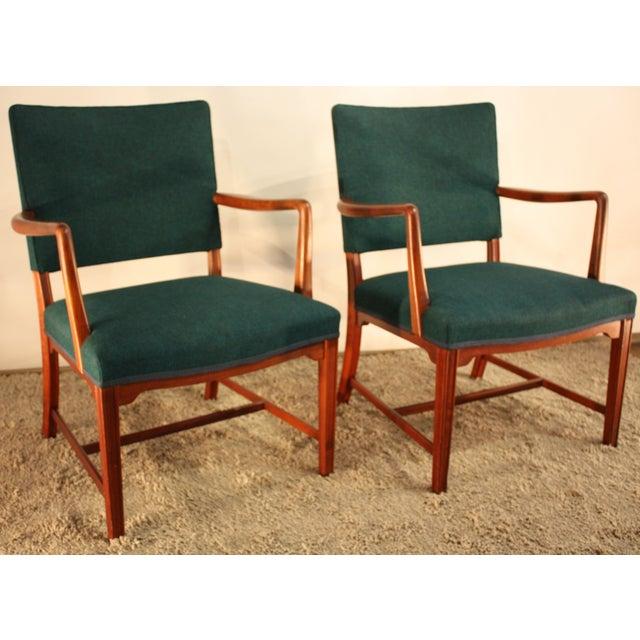 Kaare Klint Style Teak Armchairs - A Pair - Image 2 of 5