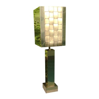1976 Curtis Jere Brass Table Lamp
