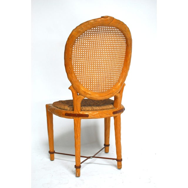 Spanish Carved Faux Bois Chair - Image 3 of 5