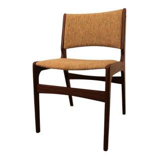 Mid-Century Danish Modern Hans Wegner Style Teak Dining Side Chair