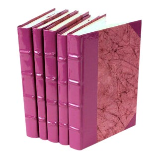 Patent Leather Purple Books - Set of 5