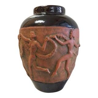 """Art Deco """"Dancing Women"""" Vase"""