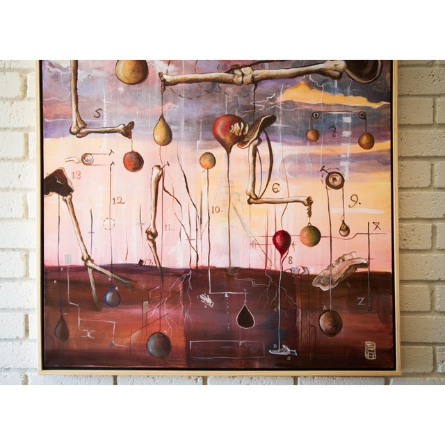 "Scott Henderson ""Tabula Tertia"" Painting - Image 4 of 4"