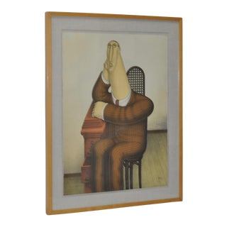 """Seated Figure"" Pencil Signed Lithograph"