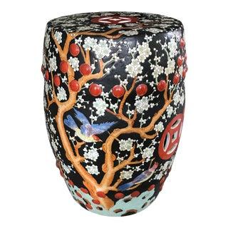 Porcelain Chinoiserie Garden Stool