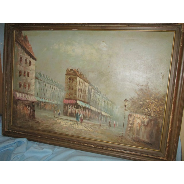 French Neo Impressionist Antoine Blanchard Oil on Canvas - Image 3 of 11