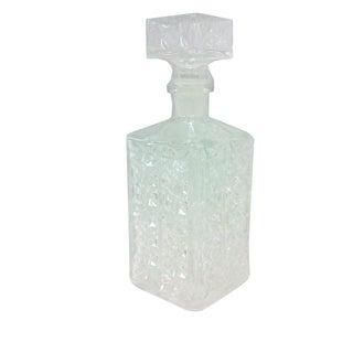 Cubist Pressed Glass Decanter