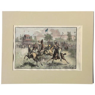 1880 Game of Polo Engraving