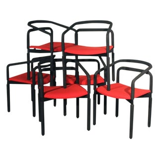 Brian Kane Vintage Rubber Armchairs, Set of 6