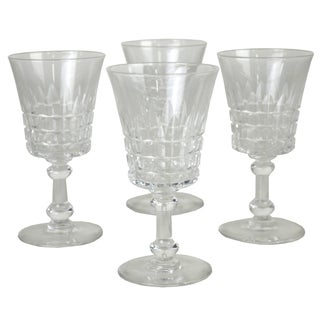 Vintage Cut Glass Cordials - Set of 4