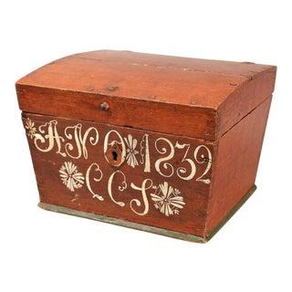Antique Upsala Swedish Marriage Trunk / Box