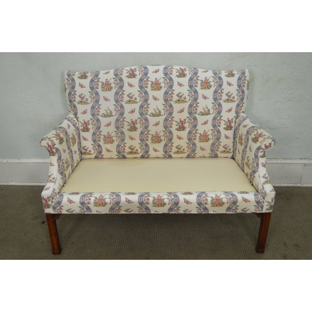 Custom Quality Chippendale Style Loveseat - Image 2 of 10