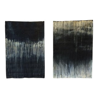 2008 Robyn Mann Black & White Diptych Painting