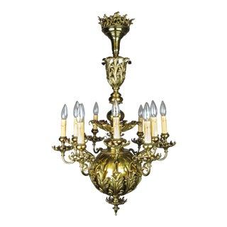 """GIBSON"" Louis XV Brass Chandelier (12-Light)"