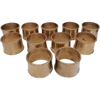 Solid Brass Napkin Rings - Set of 12