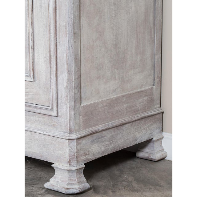 Antique French Painted Oak Louis Philippe Buffet a Deux Corps Cabinet circa 1850 - Image 9 of 11
