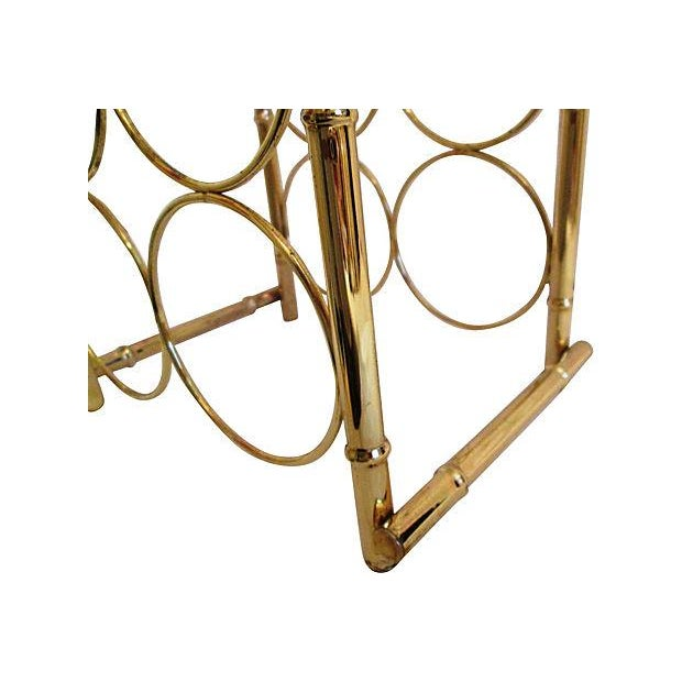 Brass-Plated Dome Bamboo Wine Rack - Image 4 of 6