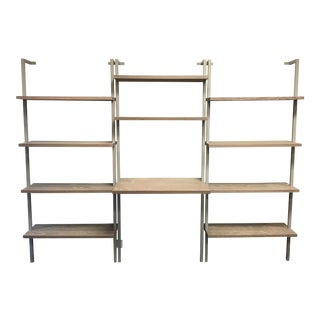 CB2 Helix Wall Mounted Bookcases & Desk - Set of 3