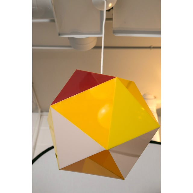 Geodesic Yellow & Orange Acrylic Pendant Light - Image 6 of 6