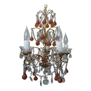Vintage & Used Amber Chandeliers | Chairish