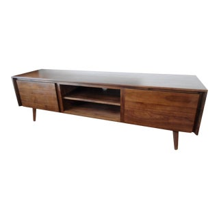 Low Walnut Media Credenza