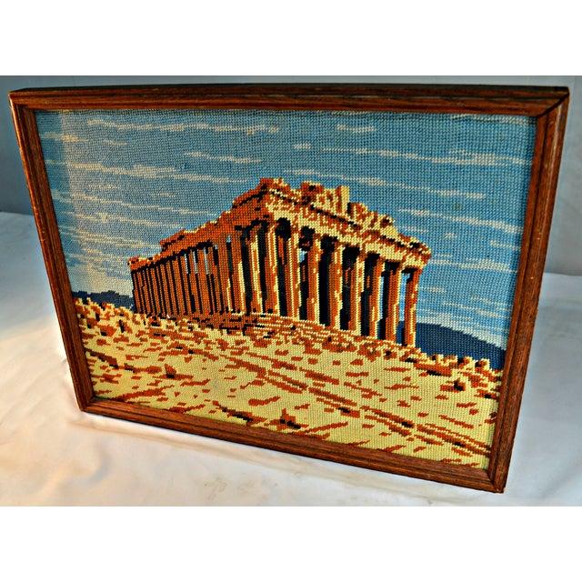Antique Greek Parthenon Needlepoint - Image 3 of 5
