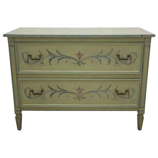 19th Century American Continental Green-Painted Chest - Image 1 of 9