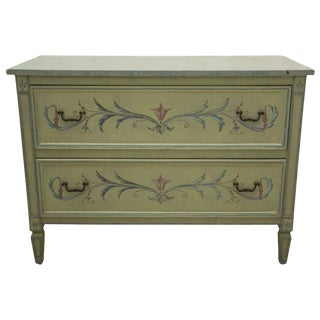 19th Century American Continental Green-Painted Chest