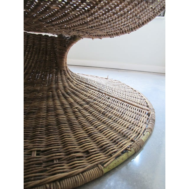 Miller Yee Fong Lotus Chair: 1960s Wicker Lounge - Image 11 of 11