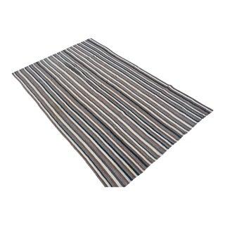 Turkish Anatolian Stripe Kilim Rug - 4′6″ × 7′5″