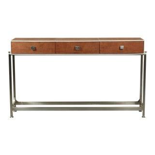 Sarreid Ltd Tan Shagreen Console Table