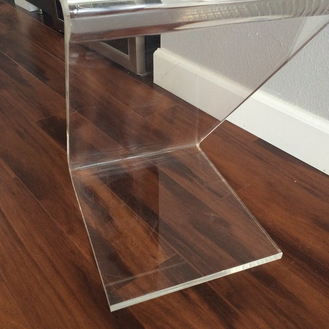 Vintage Lucite Z End Table Mascheroni Style - Image 5 of 7