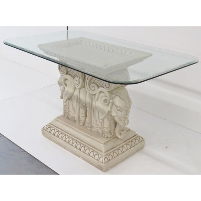 Red Field Style Elephant Center Table - Image 2 of 7