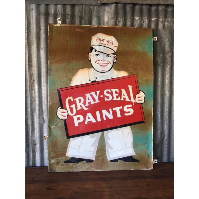 Vintage Original Gray-Seal Paints Sign - Image 2 of 10