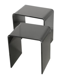 Black Acrylic Nesting Tables - A Pair