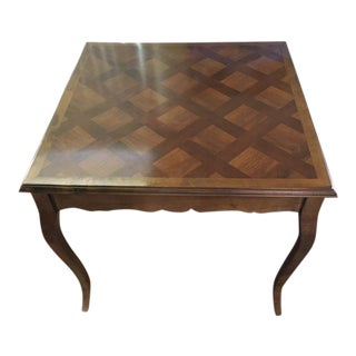 French Inspired Faux Inlay Accent Table