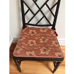 Image of Faux Bamboo Chinese Chippendale Chairs - A Pair