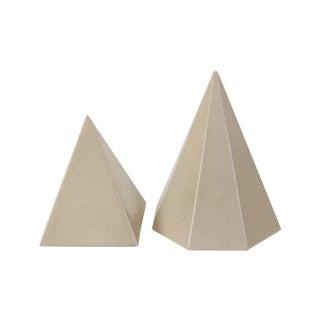 Ceramic Pyramid Objets - Pair