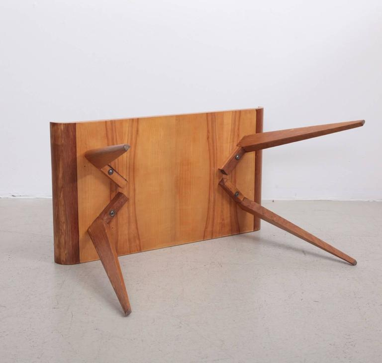 Spanish Modernist Pagoda Coffee Or Side Table In Oak By Manuel Barbero 1953    Image 5