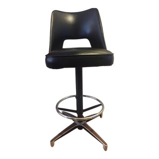 Black Chromcraft Tulip Swivel Barstool (4 Available)