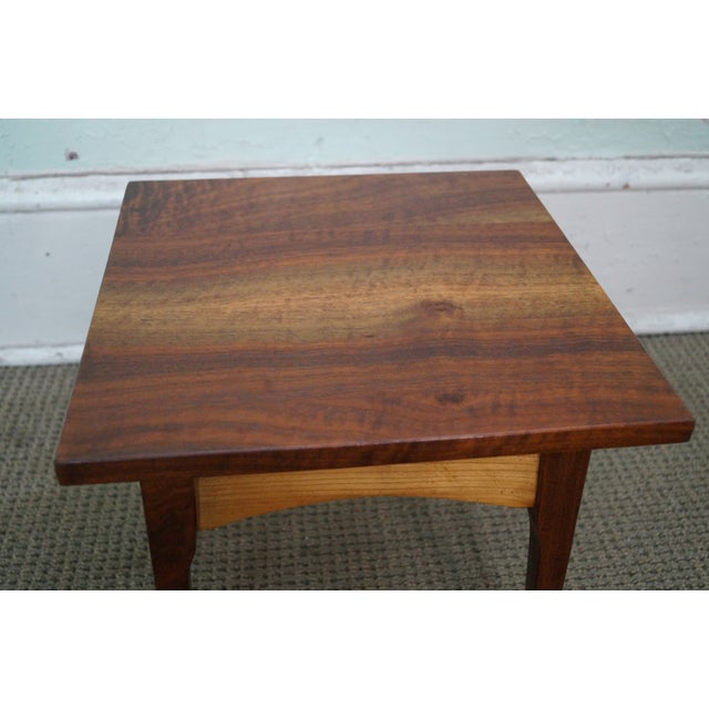 Hand-Crafted Solid Walnut Side Table - Image 4 of 10