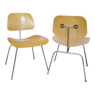 Herman Miller Eames DCM Dining Chairs - A Pair